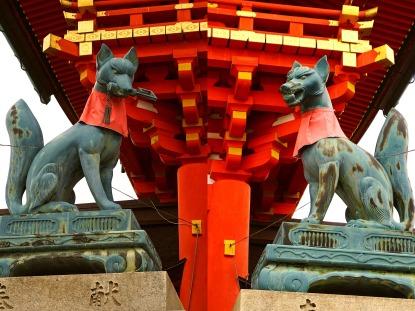 Inari vossenbeelden